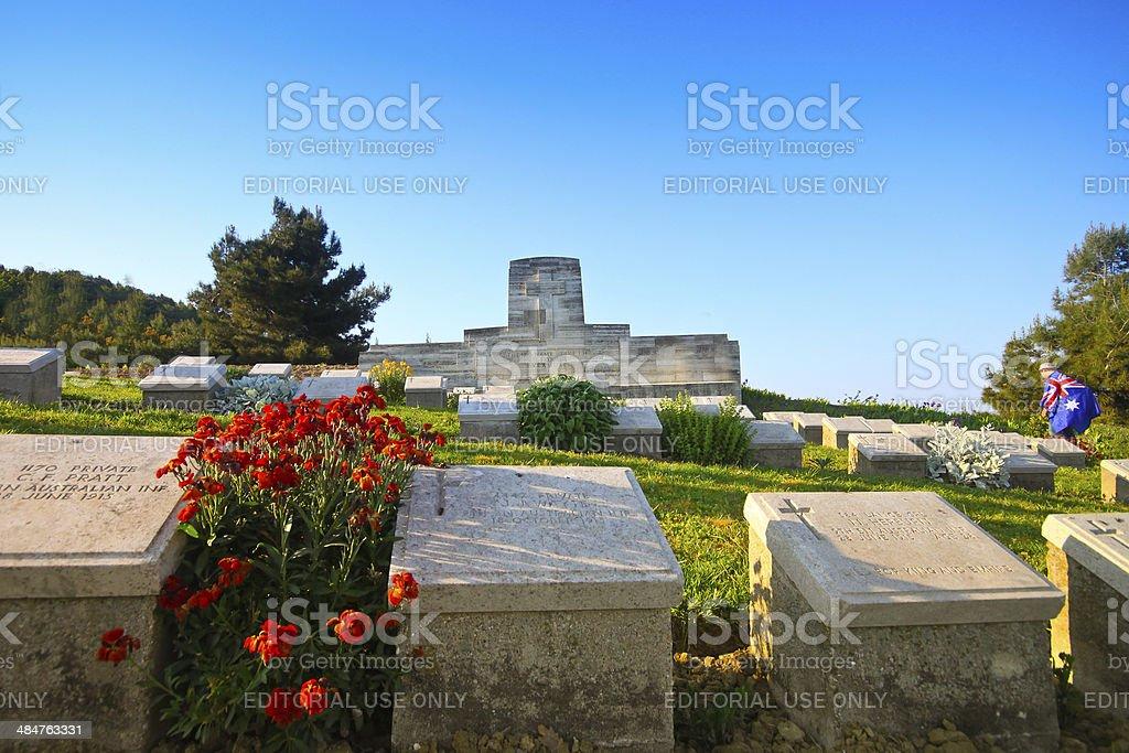 Australians visit Shell Green Cemetery, Gallipoli on ANZAC Day stock photo