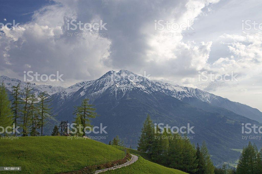 austria alps royalty-free stock photo