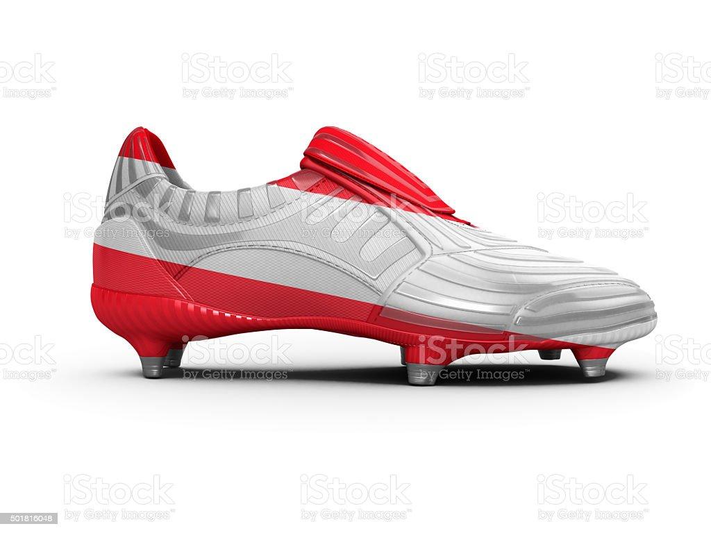 Austria Austrian Football Boot stock photo