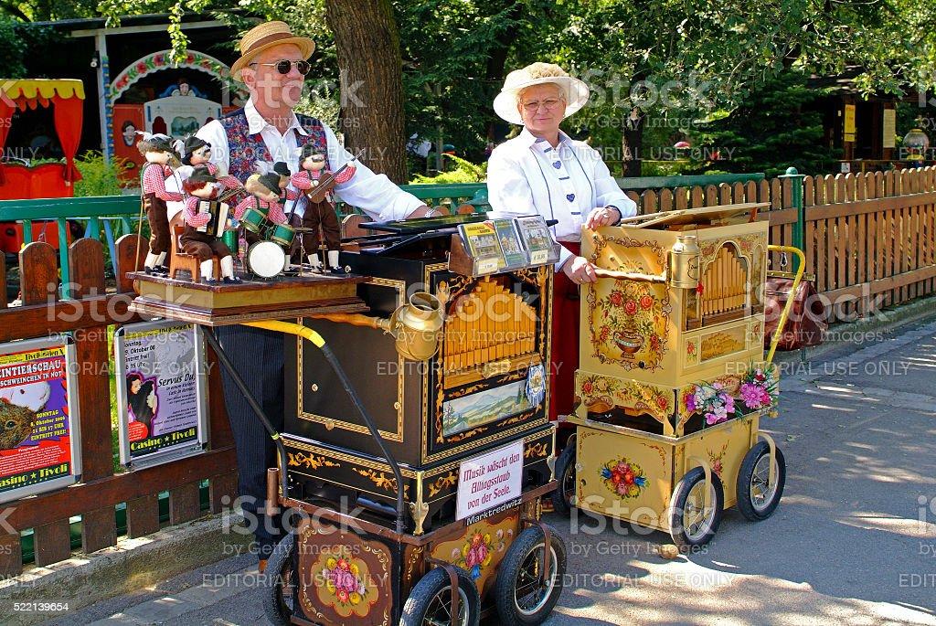 Austria, Barrel Organ stock photo