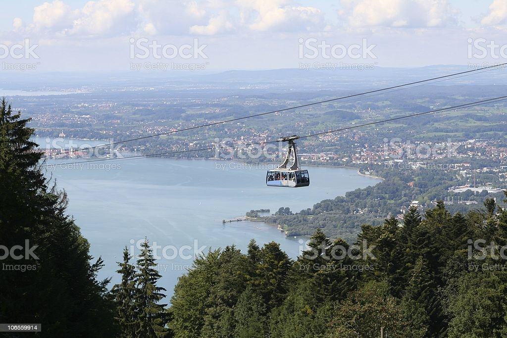 Austria Cablecar of Mountain Pfänder royalty-free stock photo