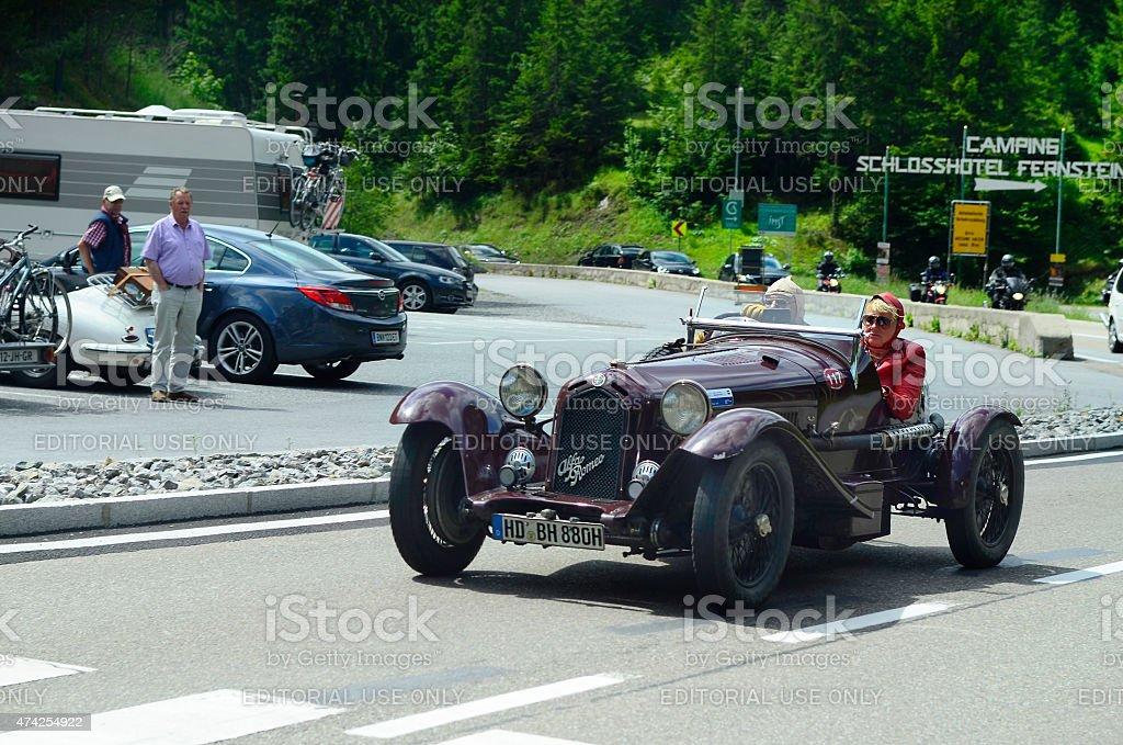 Austria, classic rallye stock photo