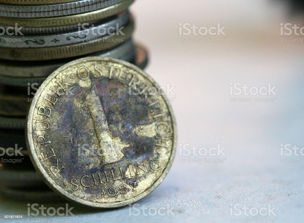 Austria Coin stock photo