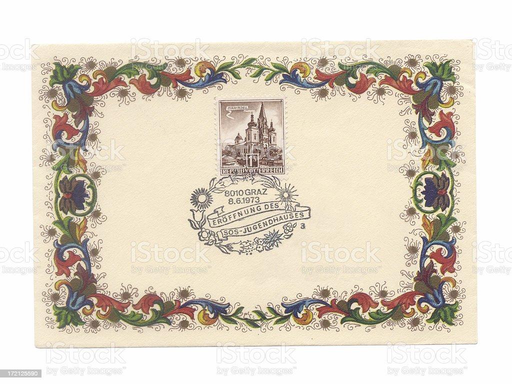 Austria envelope royalty-free stock photo