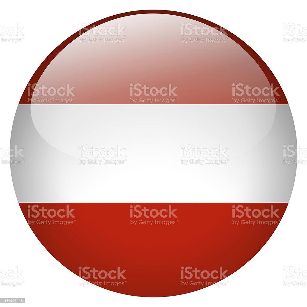 Austria flag button stock photo