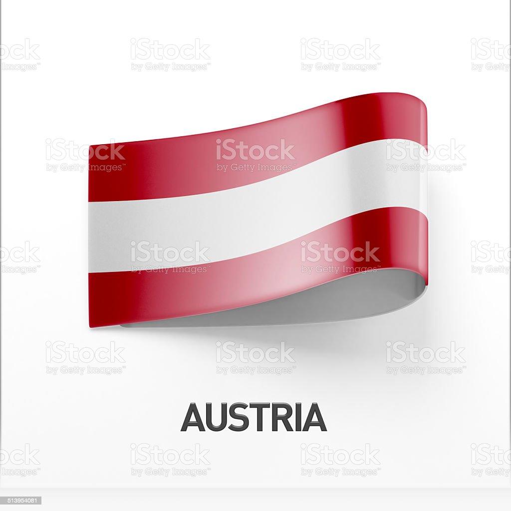 Austria Flag Icon stock photo