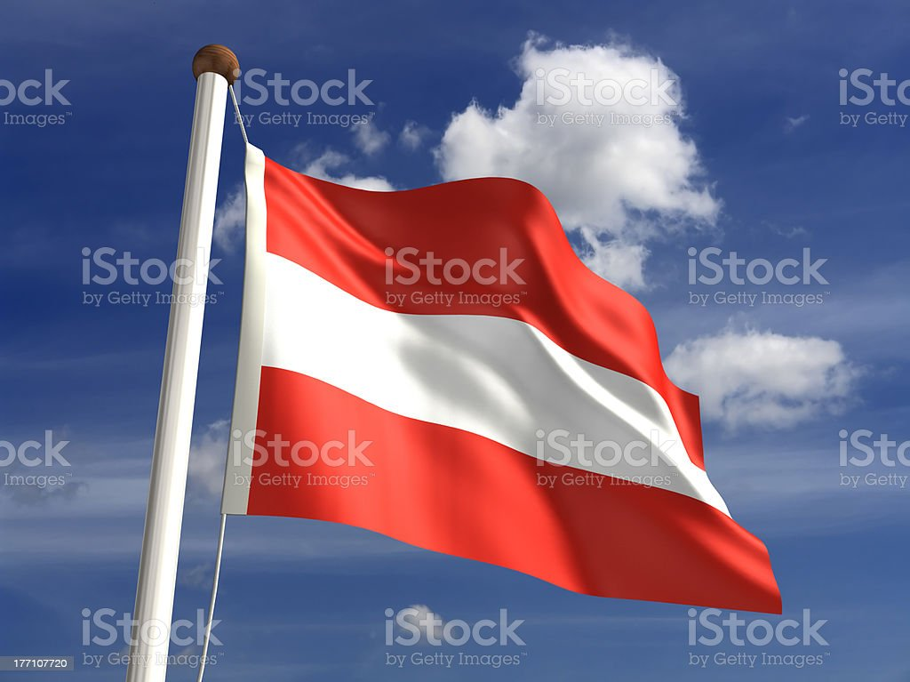 Austria flag (with clipping path) stock photo