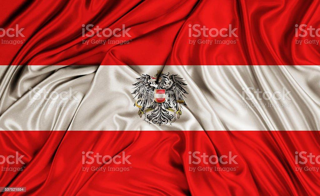 Austria flag - silk texture stock photo