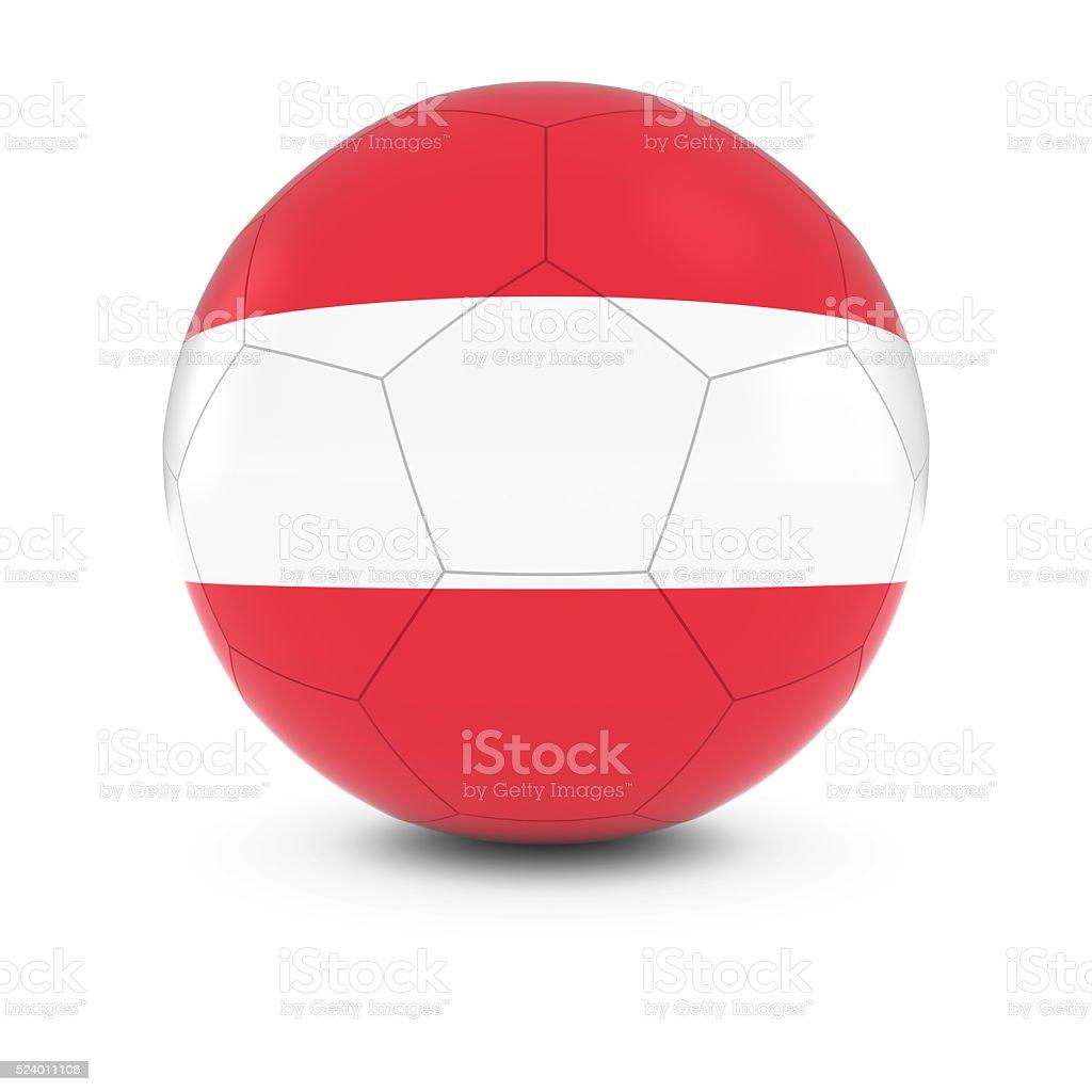 Austria Football - Austrian Flag on Soccer Ball stock photo