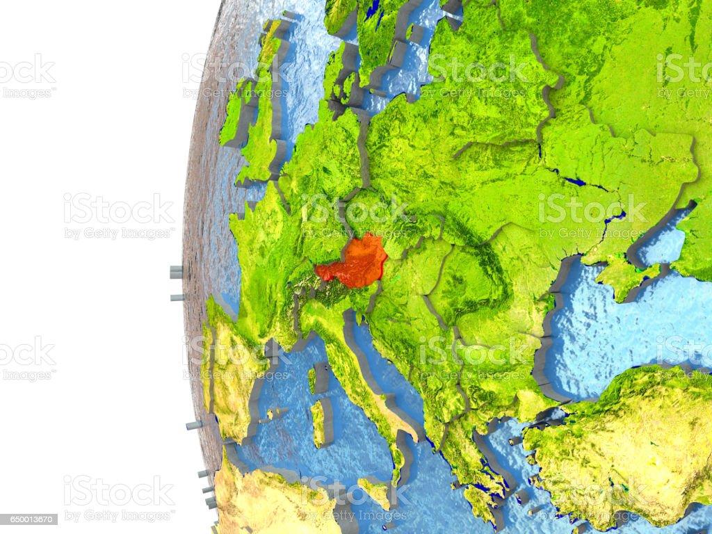 Austria in red stock photo
