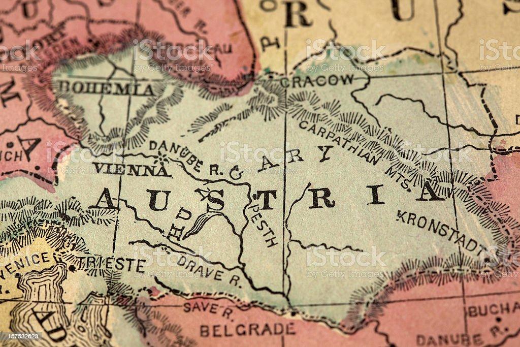 Austria map royalty-free stock photo