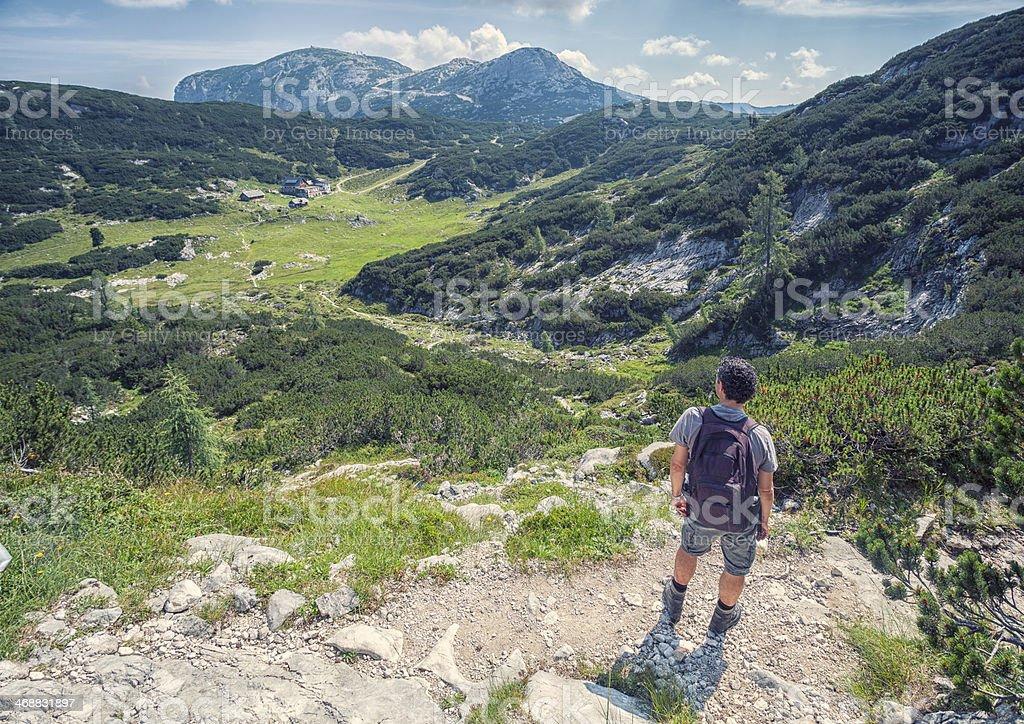 Austria mountain hiking stock photo