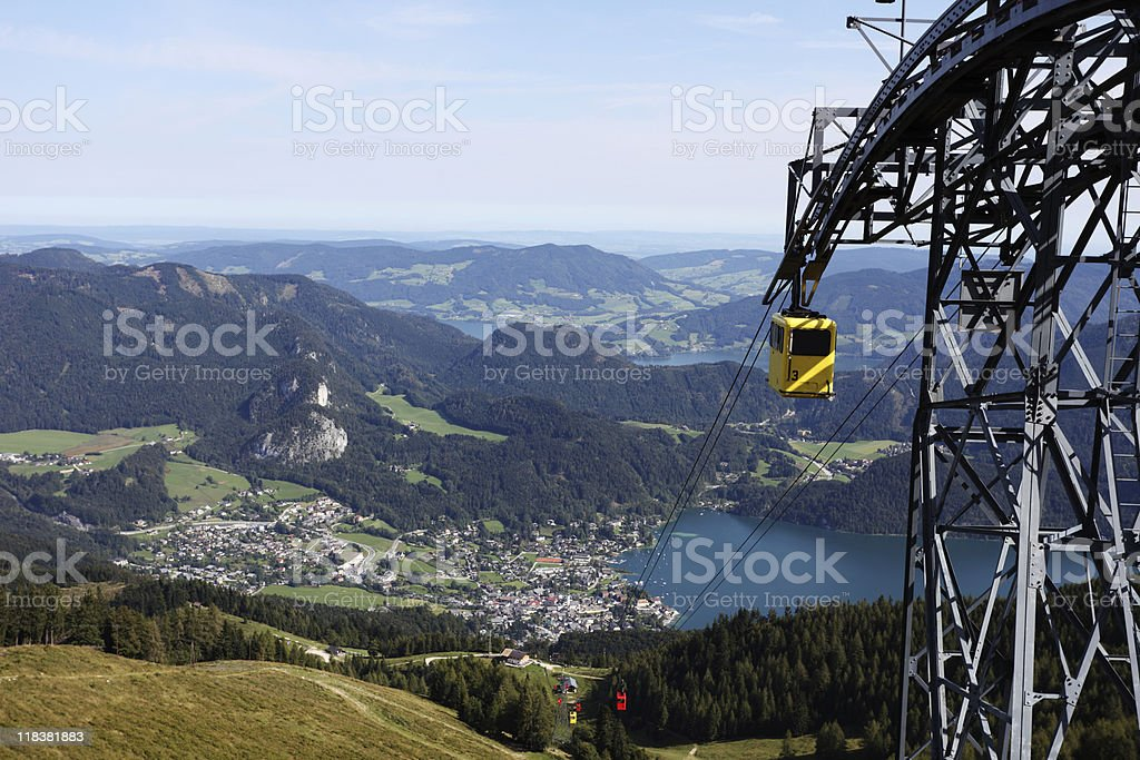 Austria Mountain View Zw?lferhorn St Gilgen and Lake Wolfgangsee stock photo