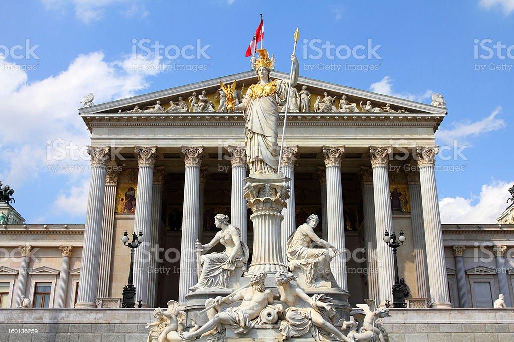 Austria - parliament stock photo