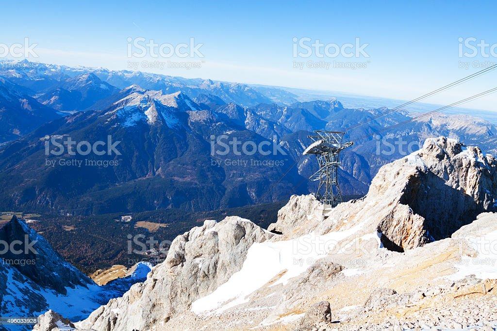 Austria seen from Zugspitze stock photo