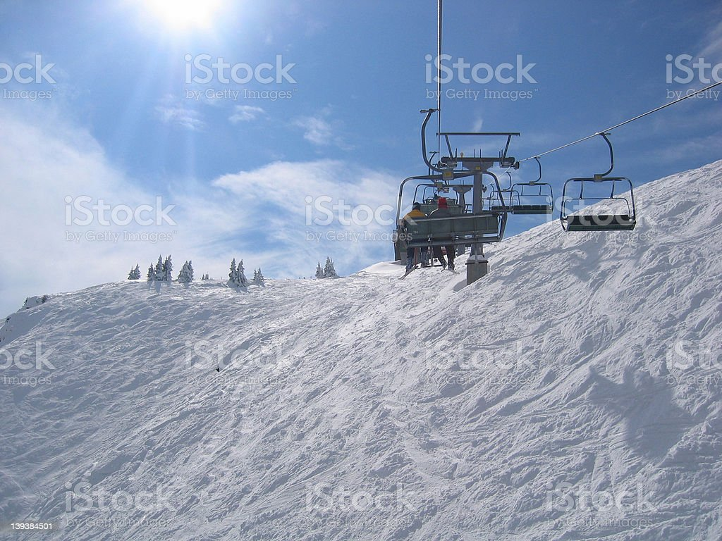 Austria / Skiing area chair lift stock photo