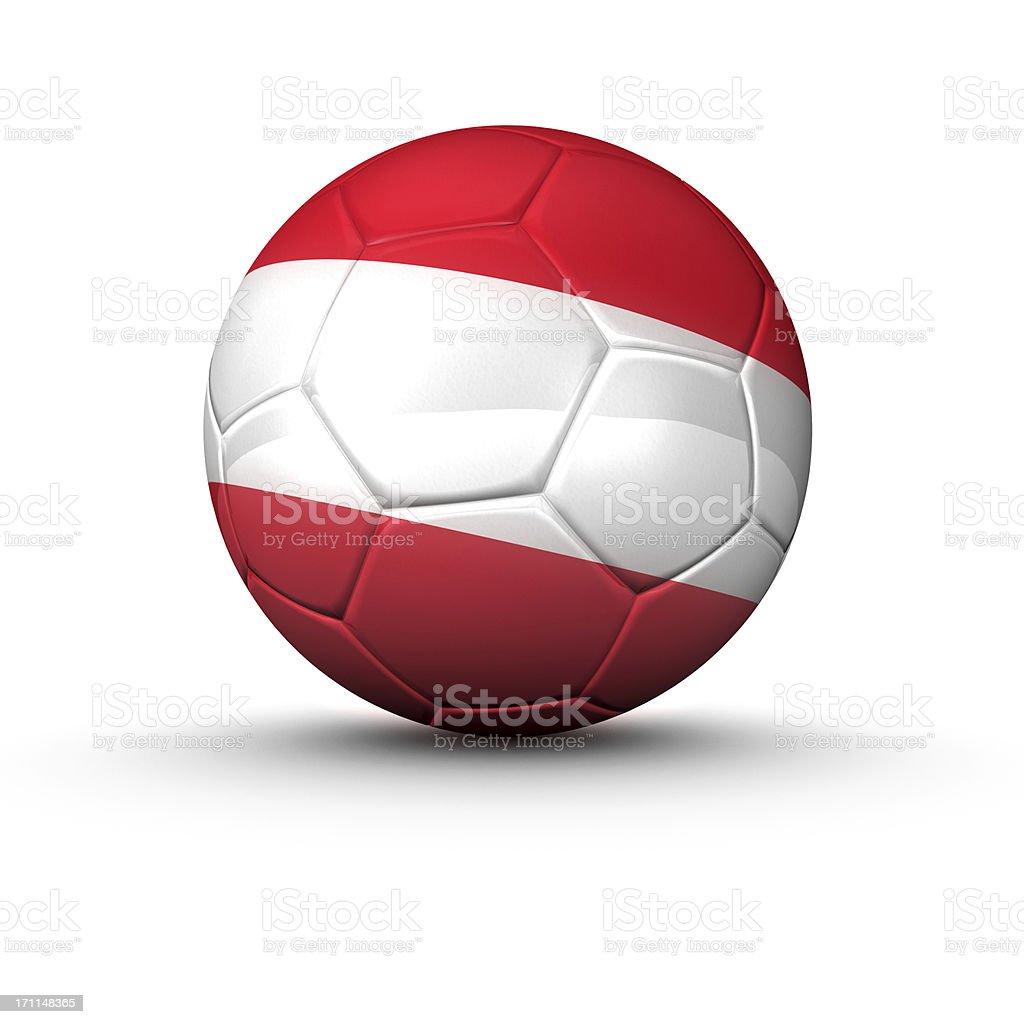 austria soccer ball stock photo