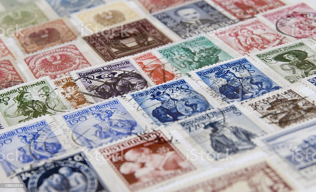 austria stamp royalty-free stock photo