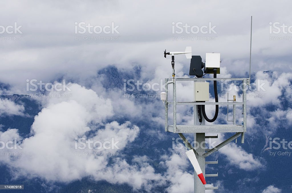 Austria Tauplitz weather station stock photo