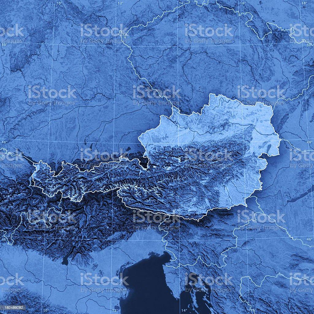 Austria Topographic Map royalty-free stock photo