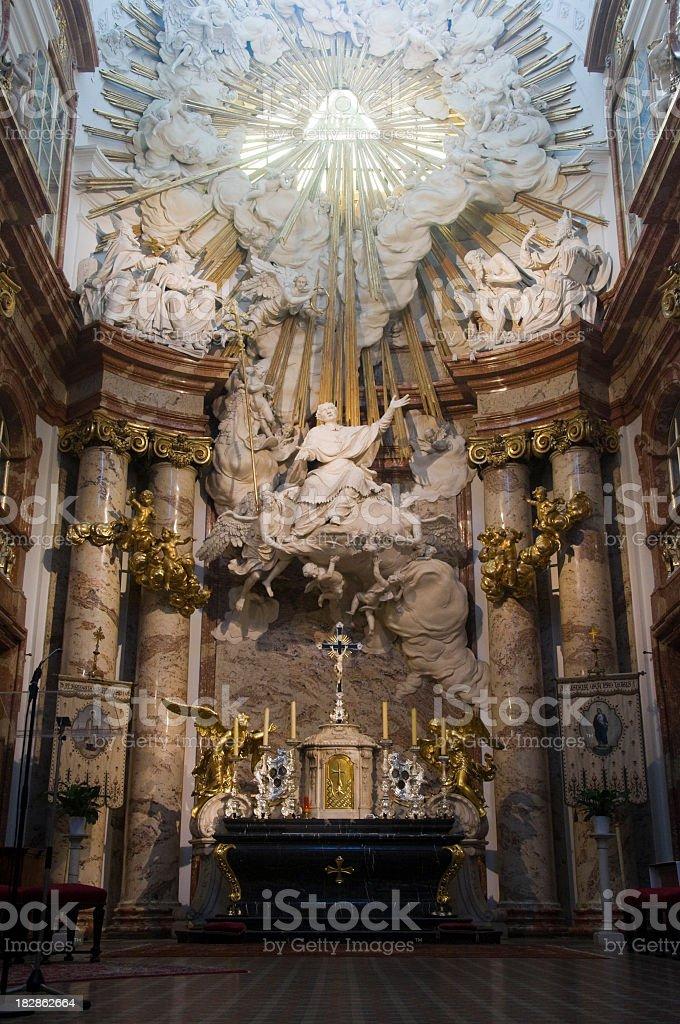 Austria, Vienna, church, indoors royalty-free stock photo