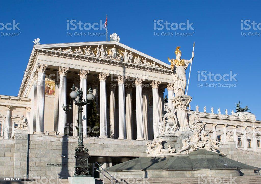 Austria. Vienna. The houses of Parliament. stock photo