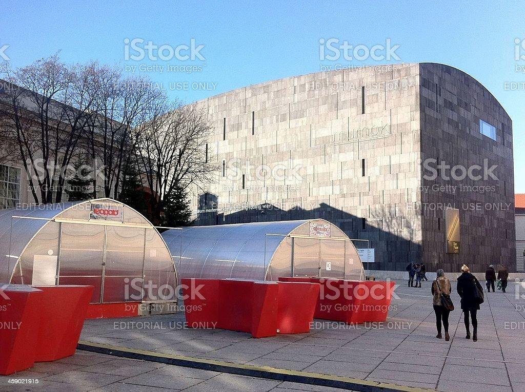 Austria, Vienna, the Mumok, Contemporary Art Museum royalty-free stock photo