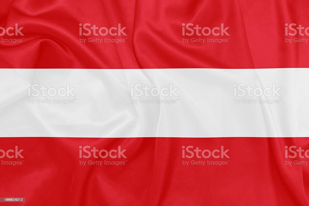 Austria - Waving national flag on silk texture stock photo