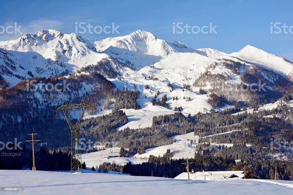 Austria, Winter stock photo