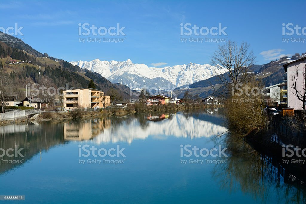 Austria, Winter stock photo