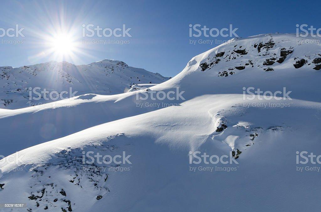 Austria, Zillertal, ski area: Zillertalarena stock photo