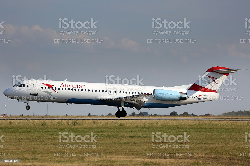 Austrian Airlines stock photo