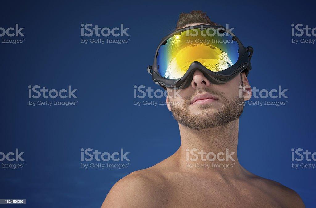 Austrian Alpes Goggle Panorama (XXXL) royalty-free stock photo