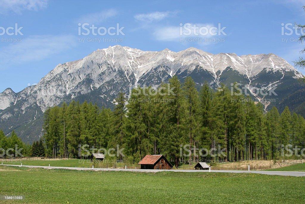 Austrian Alpes stock photo