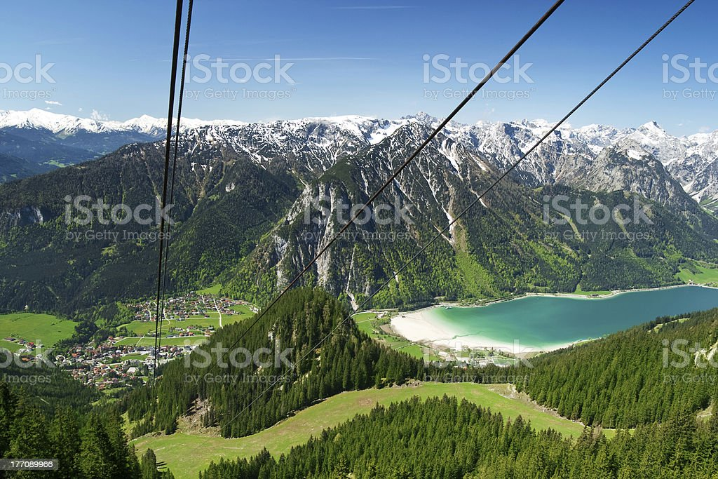 Austrian alps - Achensee stock photo