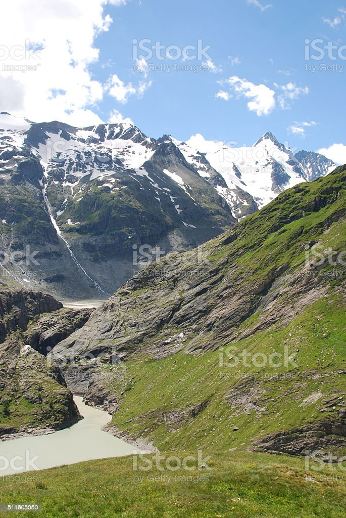 Austrian alps and Grossglockner in the background stock photo