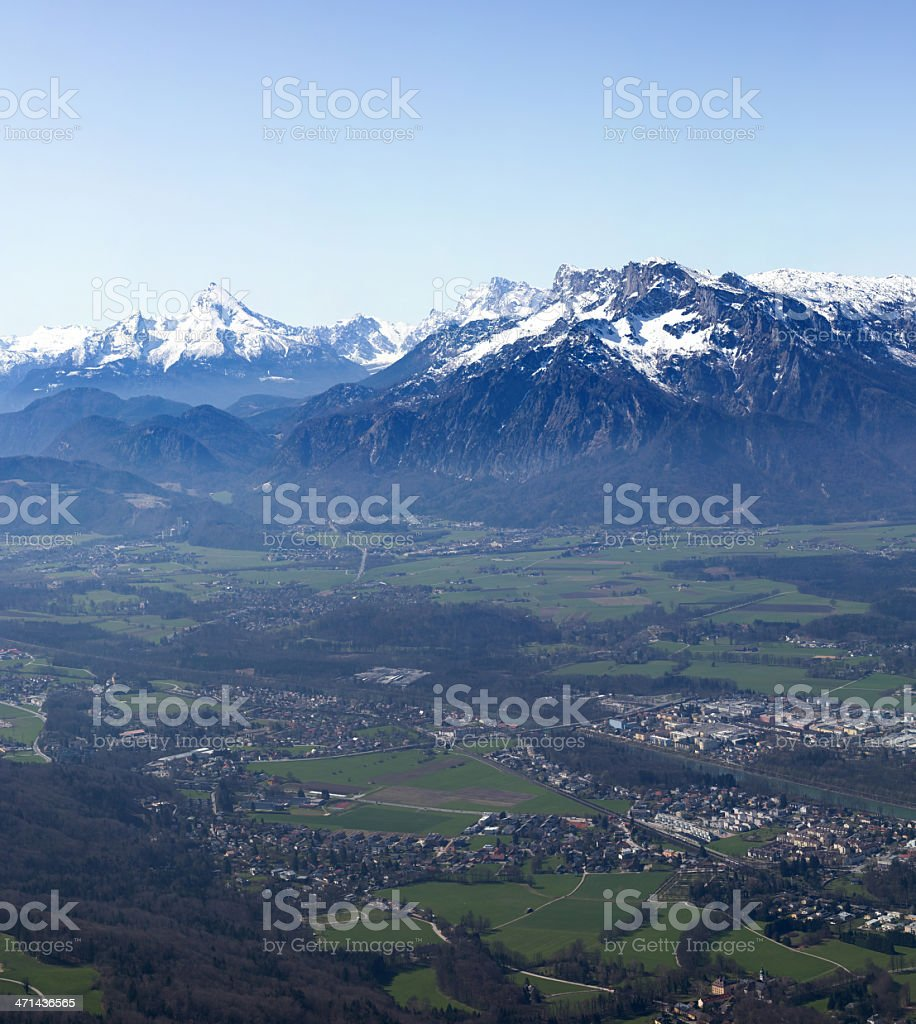 austrian alps in autumn stock photo