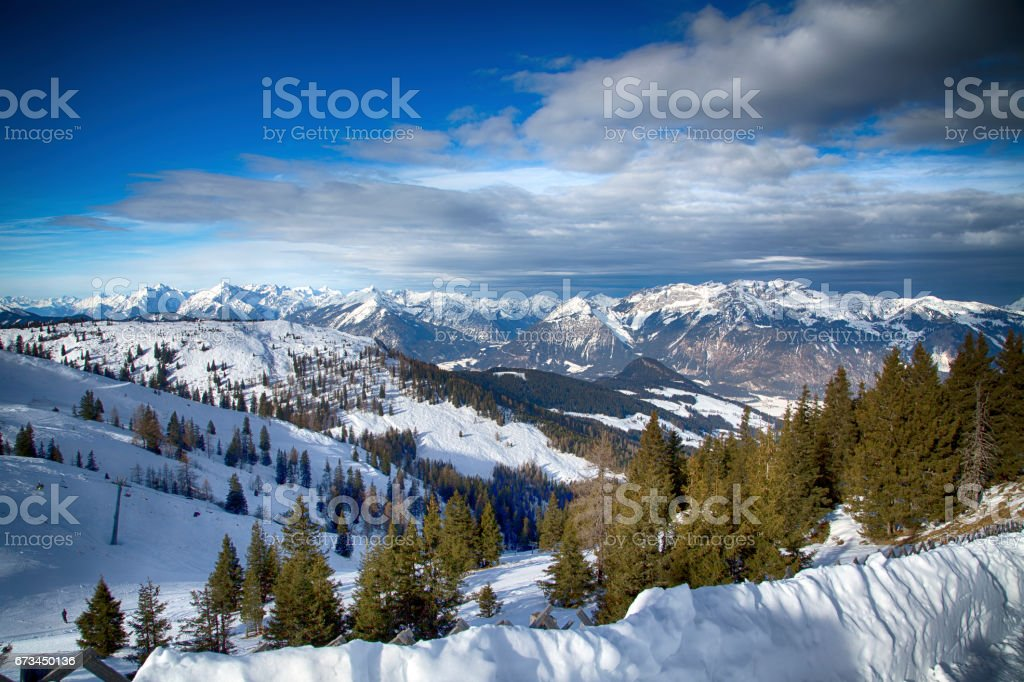 Austrian Alps in Winter stock photo