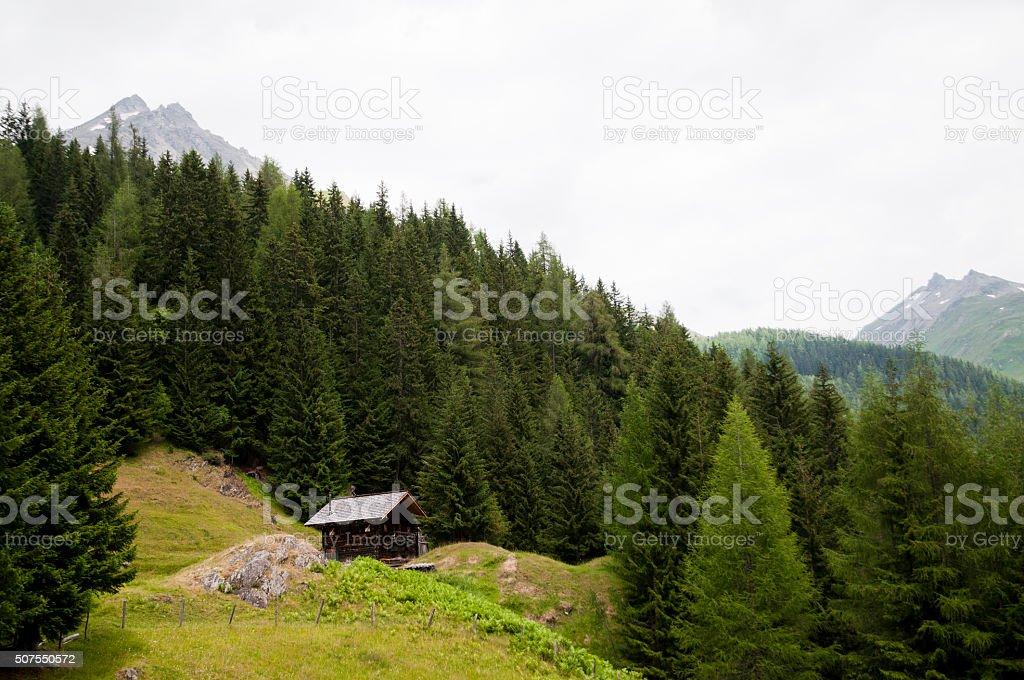 Austrian alps landscape stock photo