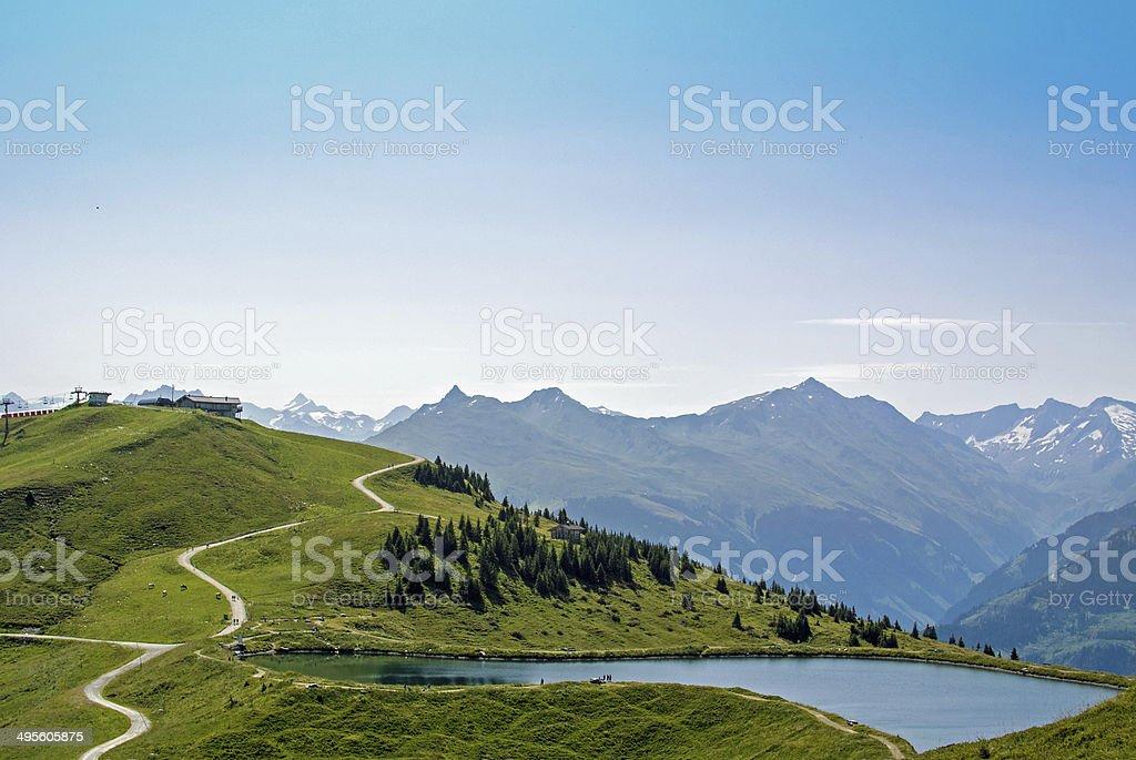 Austrian Alps near Kitzbuehel - Resterhöhe stock photo