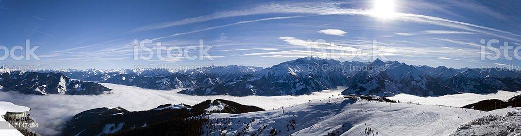 austrian alps panorama stock photo