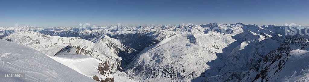 Austrian Alps Panorama royalty-free stock photo