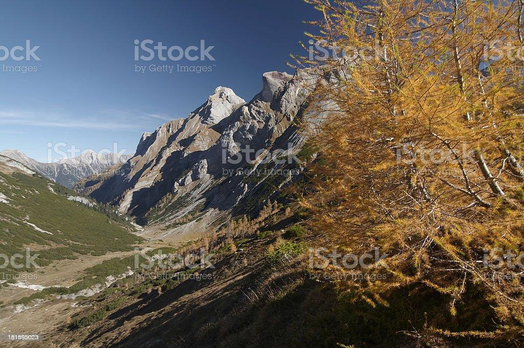 austrian autumn royalty-free stock photo