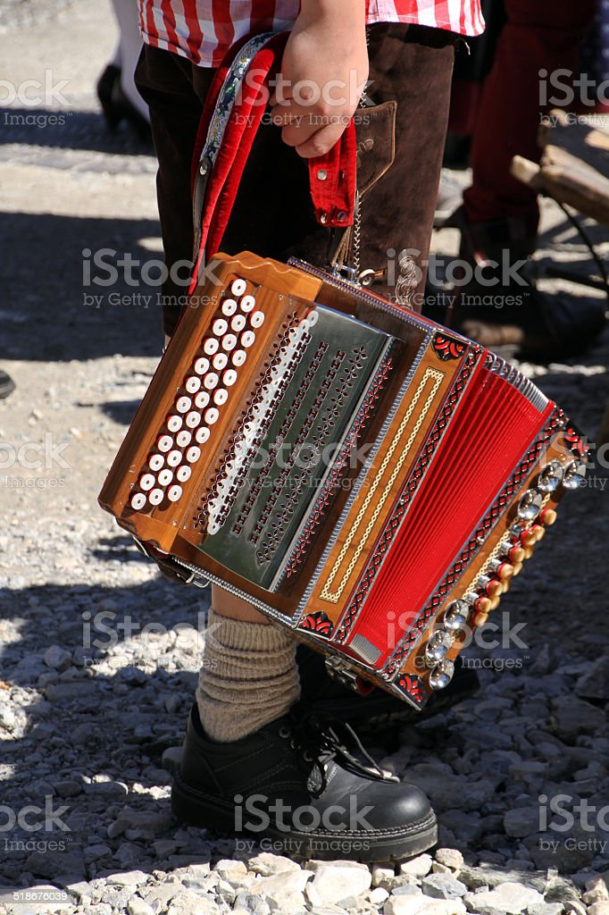 Austrian / Bavarian Boy Musician stock photo