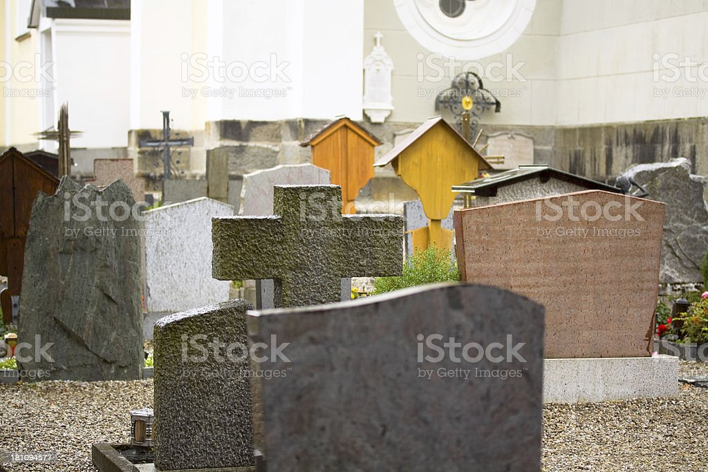 Austrian cemetery stock photo