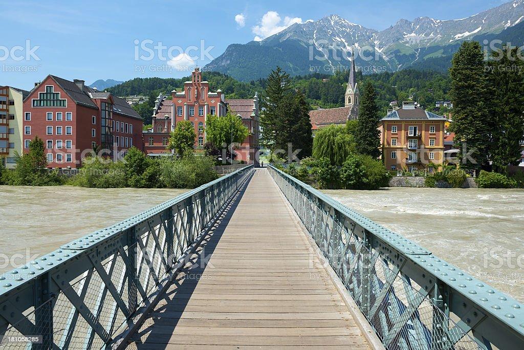 Austrian city of Innsbruck stock photo