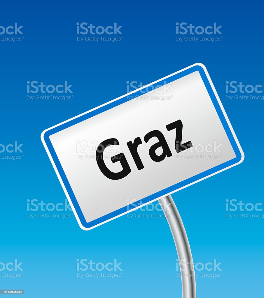 Austrian City Sign of Graz stock photo
