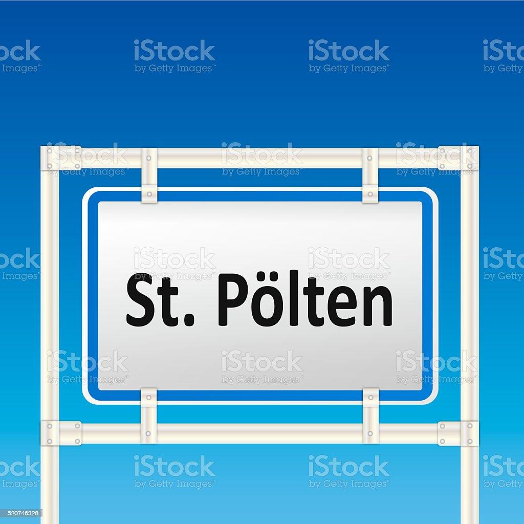 Austrian City Sign of Sankt Pölten stock photo