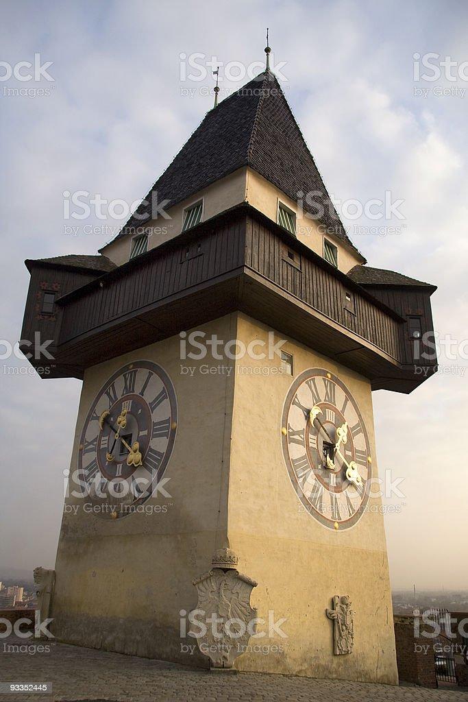 Austrian clock royalty-free stock photo