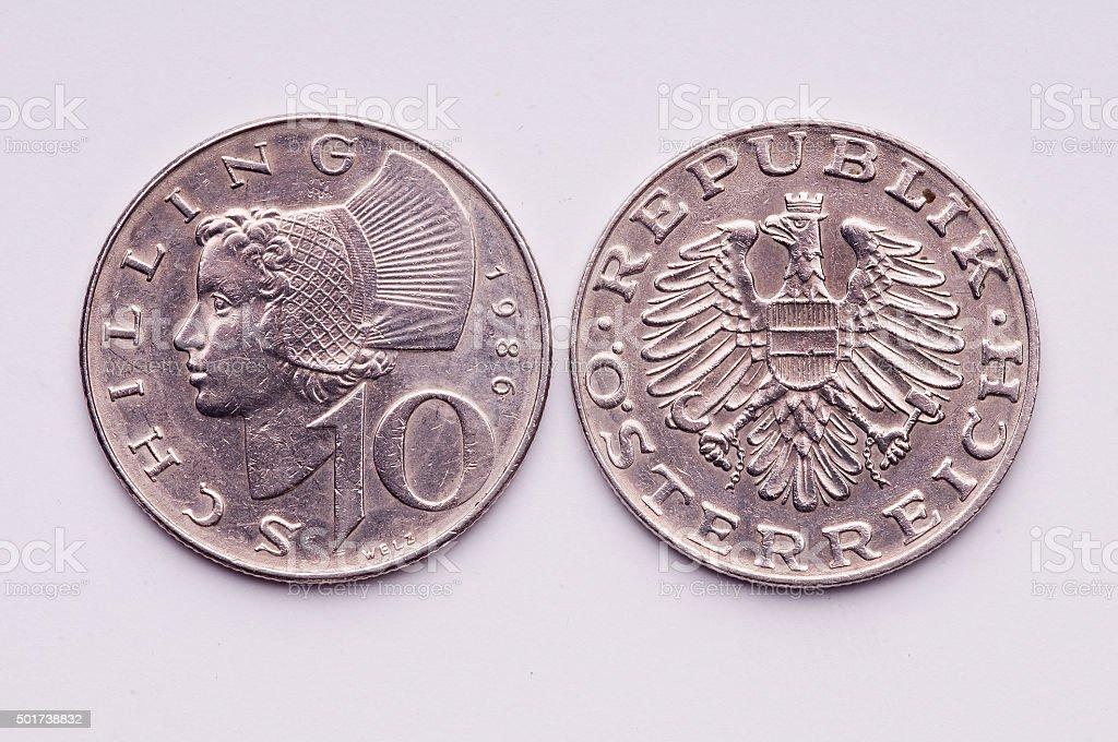 Austrian Coin stock photo